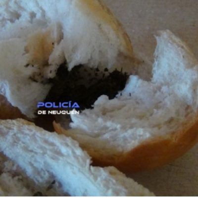 Intentó pasar droga dentro de un pan