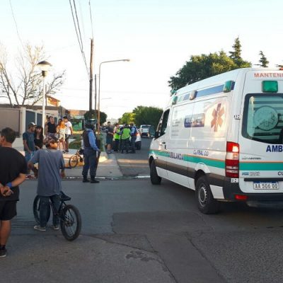Imprudencia causó accidente con un herido