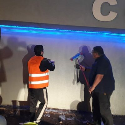 Defensa Civil limpió el Cristo