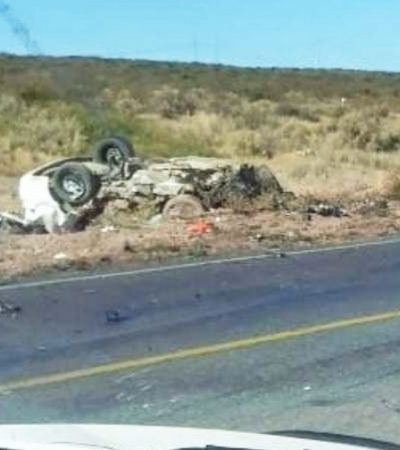 Dos personas murieron en accidente frontal
