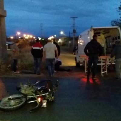 Motociclista trasladado al hospital por accidente